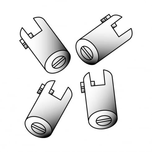 Cable-to-shelf connector: pack of 4 (shop equipment extras)