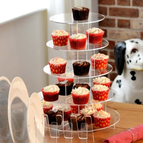 Cake stand/ cup cake display : 5 tier cake stand