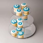 Cake stand/ cupcake display: 3 tier mirror cake stand: 30cm