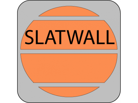suitable for slatwall