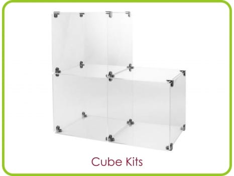 PERSPEX® acrylic display cubes
