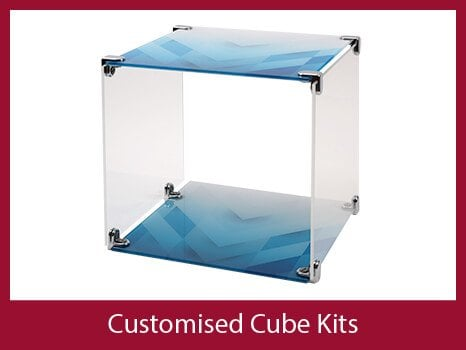 Customised display cubes and storage
