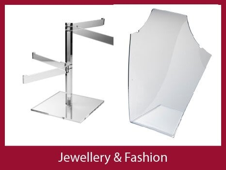PERSPEX jewellery displays