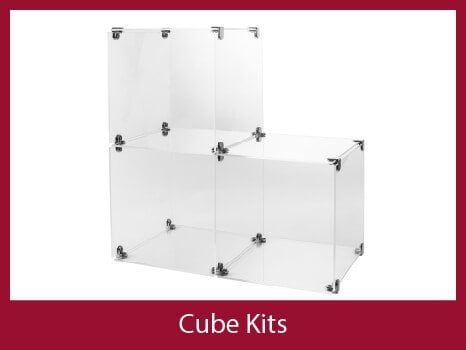 PERSPEX display cubes