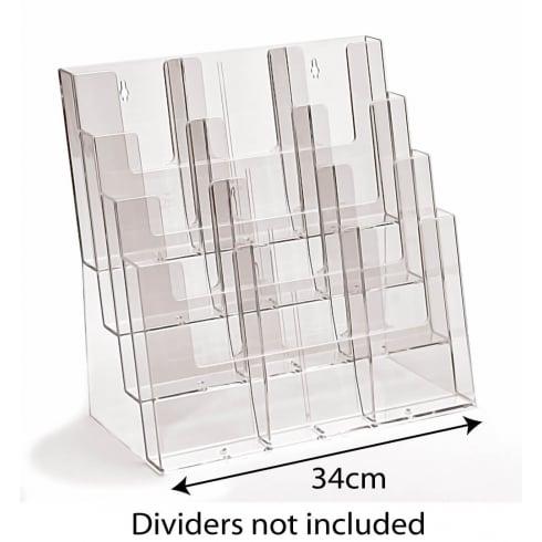 Combi leaflet holder: 4 tier-counter/wall (leaflet & brochure holders)