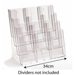 Combi leaflet holder: 4 tier-counter/wall (leaflet & brochure holders)
