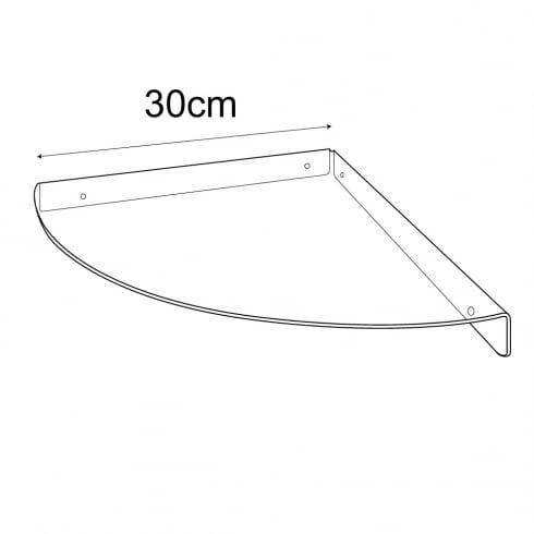 Corner shelf 30cm -wall fixing (acrylic corner shelf)