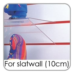 Slatwall Heavy Duty Shelves (10cm spaced)