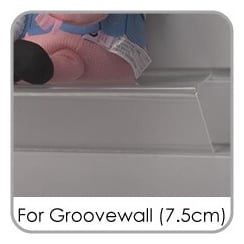 Shelves for Groovewall (7.5cm spaced)