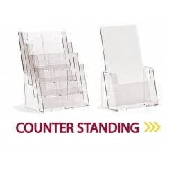 Counter Standing Leaflet Holders
