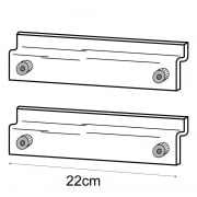Display case adaptor kit-slatwall (slatwall adaptor )