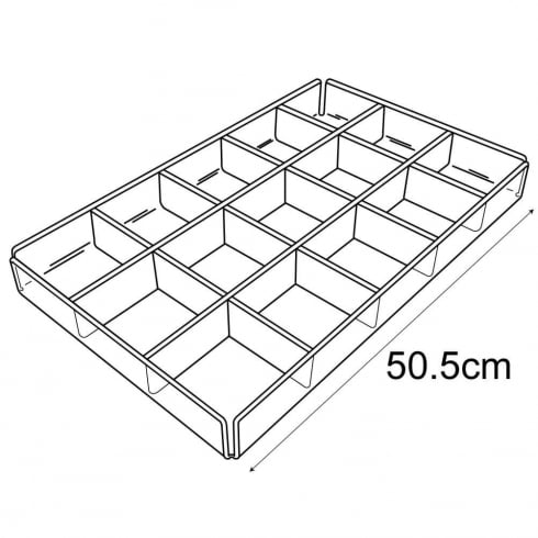 Divided tray (acrylic trays & tubs)