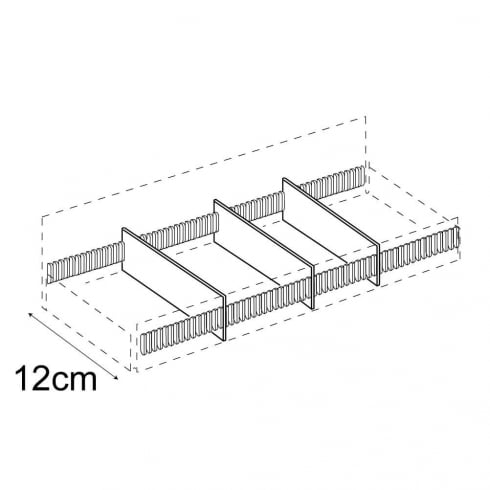 Divider kit for T72000 tiered tray (point of sale accessories)