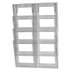 Double A4 leaflet holder: 4 tier-wall