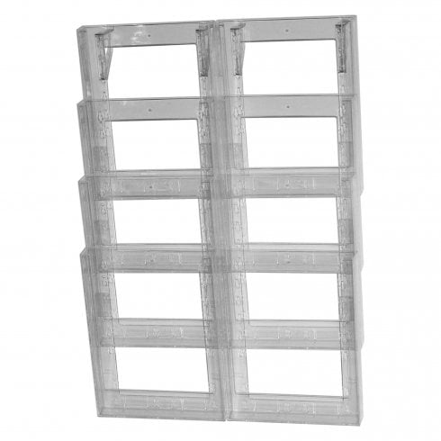 Double A4 leaflet holder: 8 tier-wall