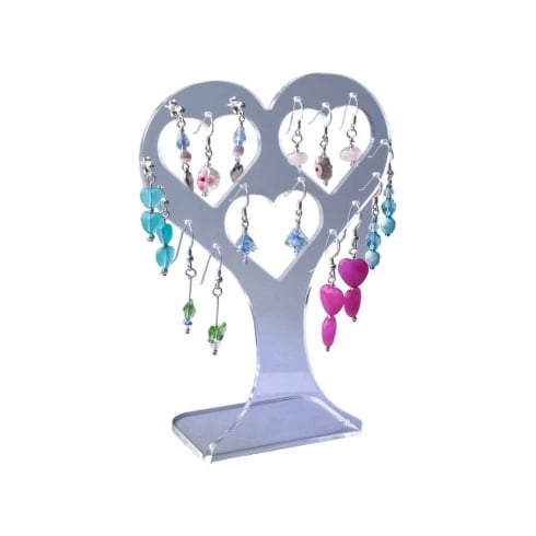 Earring heart: all types of earrings (acrylic jewellery & earring display)