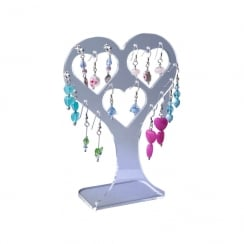 Earring heart: all types of earrings (acrylic jewellery & earring display)