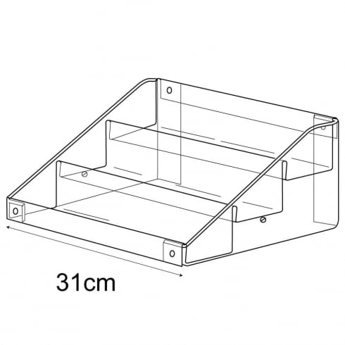 Economy tiered tray (tiered trays & tubs)