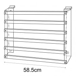 Gift paper rack-slatwall (acrylic card & gift stands)