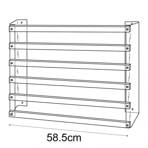 Gift paper rack-wall (acrylic card & gift stands)