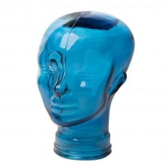 Glass head: blue recycled glass heads