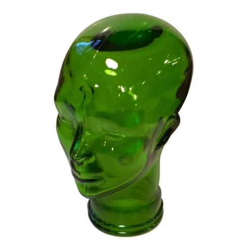 Glass head: Green (green coloured glass head)