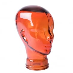Glass head: Orange (orange glass head)