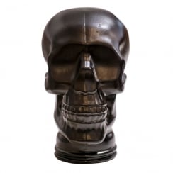 Glass skull: Black (recycled glass skull)