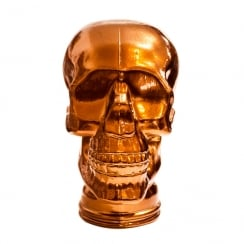 Glass skull: Bronze (bronze display skull)