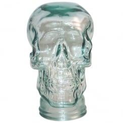 Glass skull: Clear (recycled glass skull)