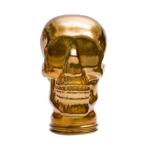 Glass skull: Gold (gold coloured glass skull)