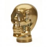 Glass skull: Gold