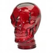 Glass skull: Red