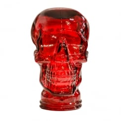Glass skull: Red (red glass skull)