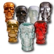 Glass skull: Selection of colours (glass skull)