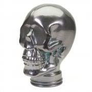 Glass skull: Silver