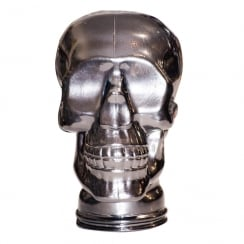 Glass skull: Silver (silver headphone stand)
