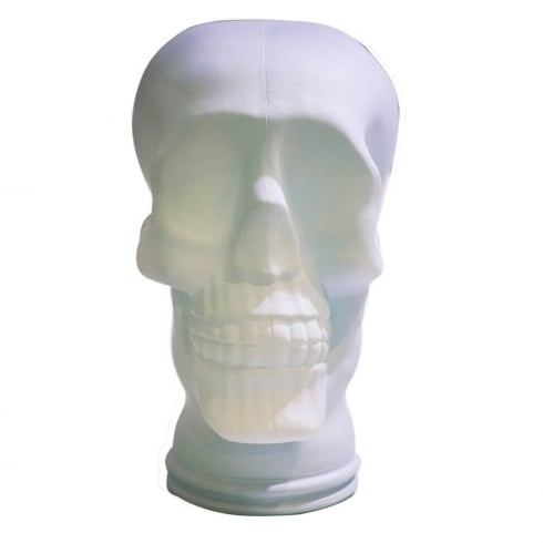 Glass skull: White (white glass display skull)