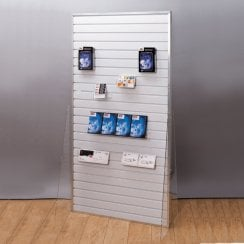 Groovewall slatwall free standing: double sided (slatwall: shop fittings)