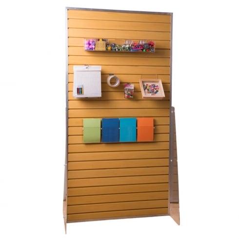 Groovewall slatwall free standing: double sided (slatwall: shop fittings)
