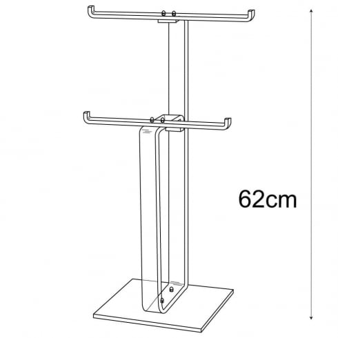 Heavy duty necklace stand: 2 tier (acrylic necklace display)