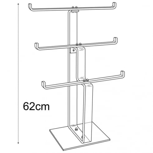 Heavy duty necklace stand: 3 tier (acrylic necklace display)