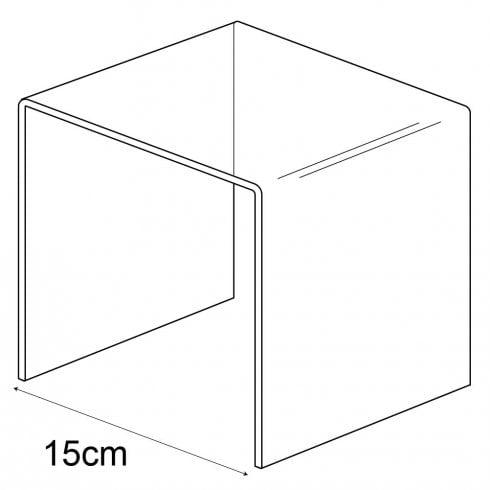 Heavy duty satin acrylic 15cm three sided stand (display stand)