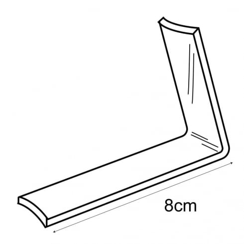 Heel support: dual height (acrylic shoe stand)