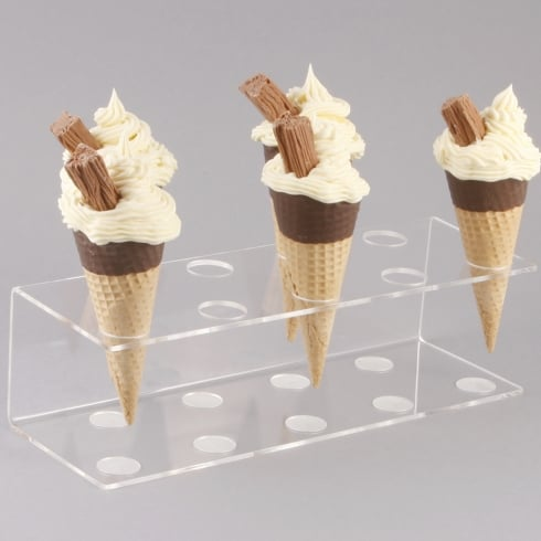 Ice cream cone holder: 9x 24mm holes (PERSPEX® acrylic kitchen and dining)