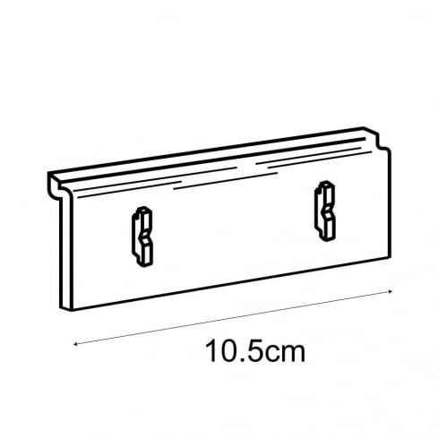 Leaflet holder adaptor-slatwall (brochure holder)