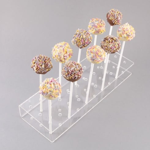Lolly stick holder/ cake pop stand: 30x 6mm holes (PERSPEX® acrylic display stands & pos)