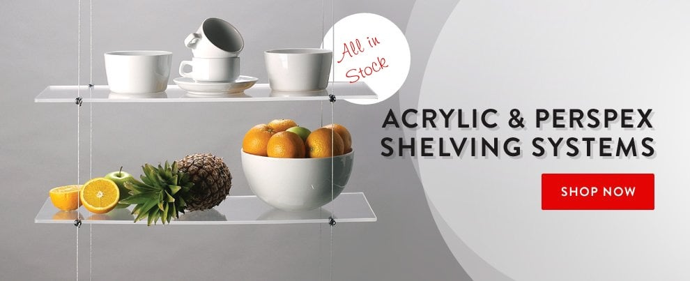 Acrylic & Perspex Shelving Systems