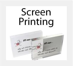 Screen Printing on Perspex