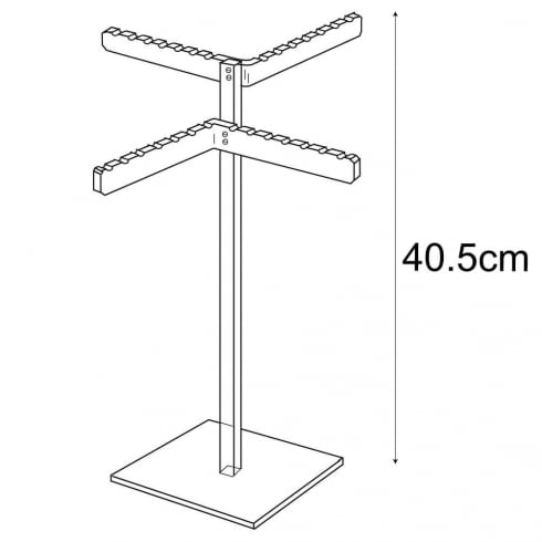 Necklace stand: multiple (acrylic necklace display)